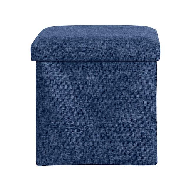 Domo Foldable Storage Cube Ottoman - Blue - 2