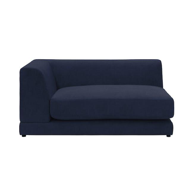 Abby L-Shaped Lounge Sofa - Navy - 3