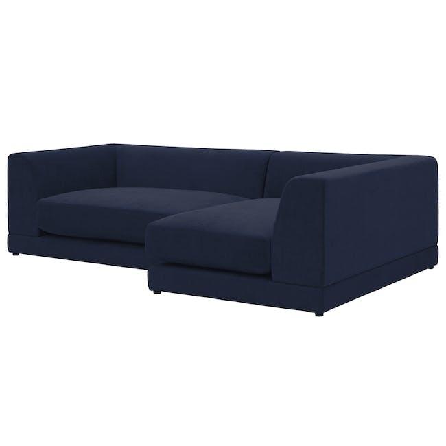 Abby L-Shaped Lounge Sofa - Navy - 1