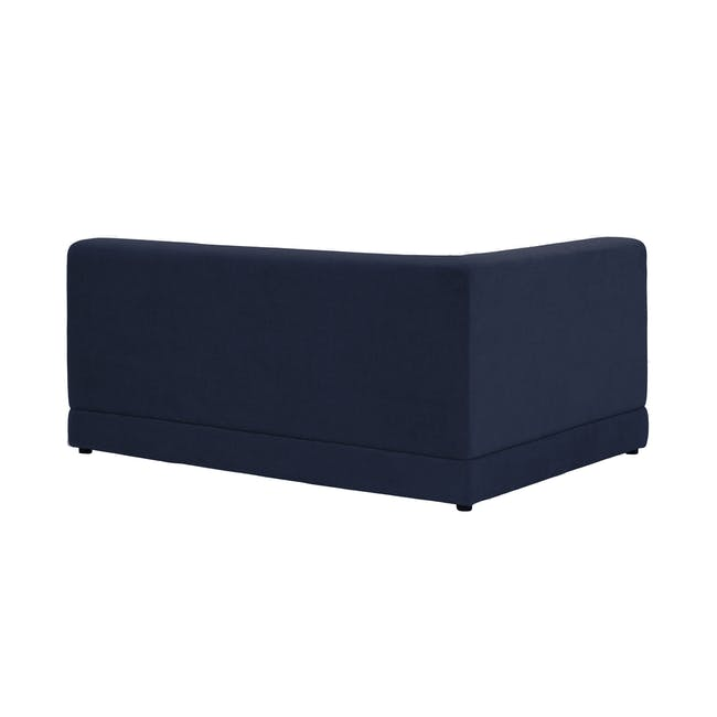 Abby L-Shaped Lounge Sofa - Navy - 5