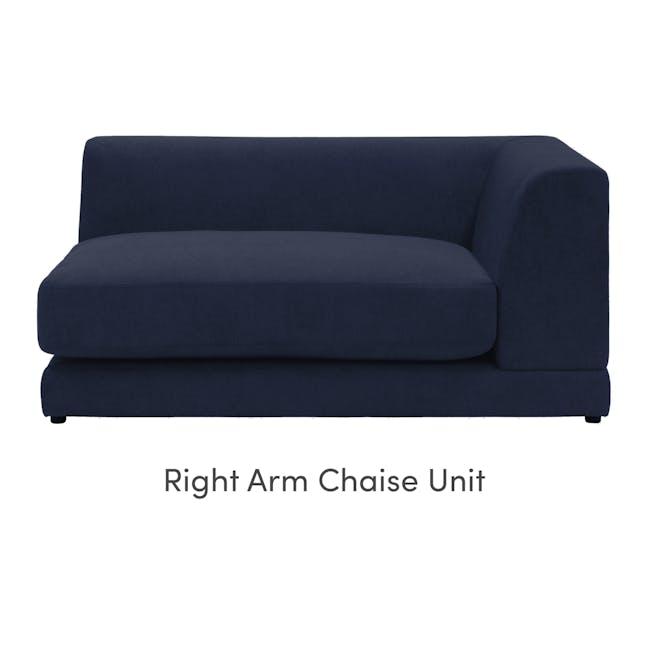 Abby L-Shaped Lounge Sofa - Navy - 7