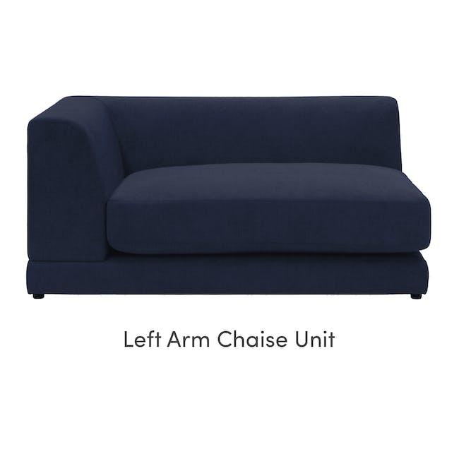 Abby L-Shaped Lounge Sofa - Navy - 8