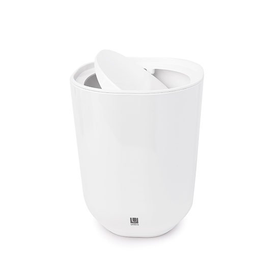 Umbra - STEP Waste Can with Lid - White
