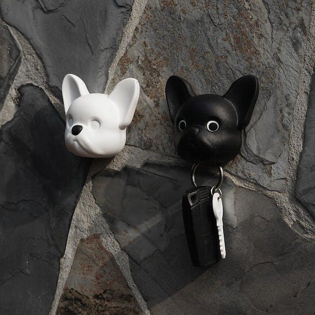 Frenchie Bulldog Key Holder - White - 1