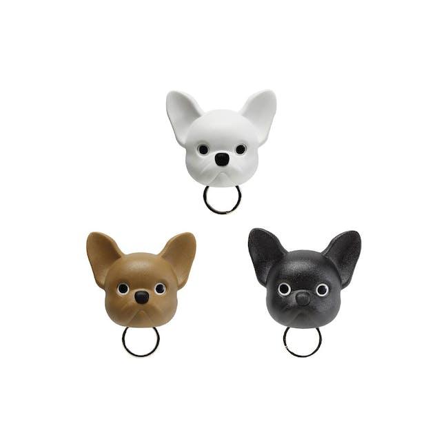 Frenchie Bulldog Key Holder - White - 3