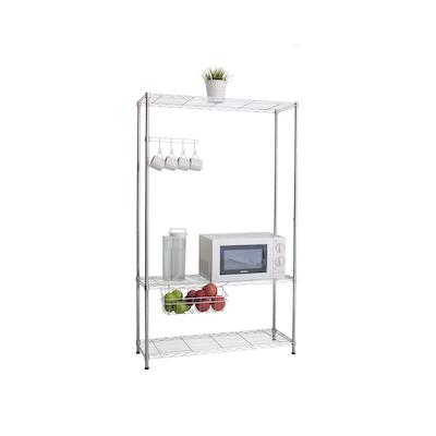 3-Tier Multi Utility Shelf L90 cm - Chrome - Image 2