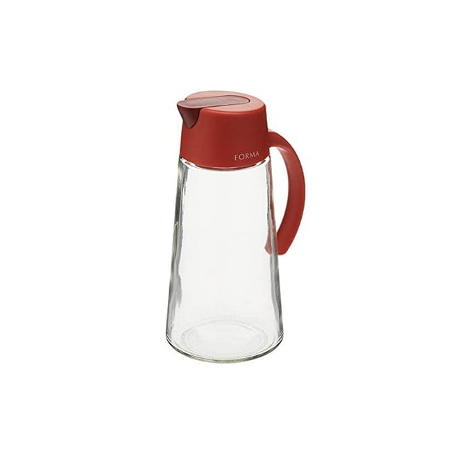Asvel Forma 650ml Glass Oil Pot - Red - 0