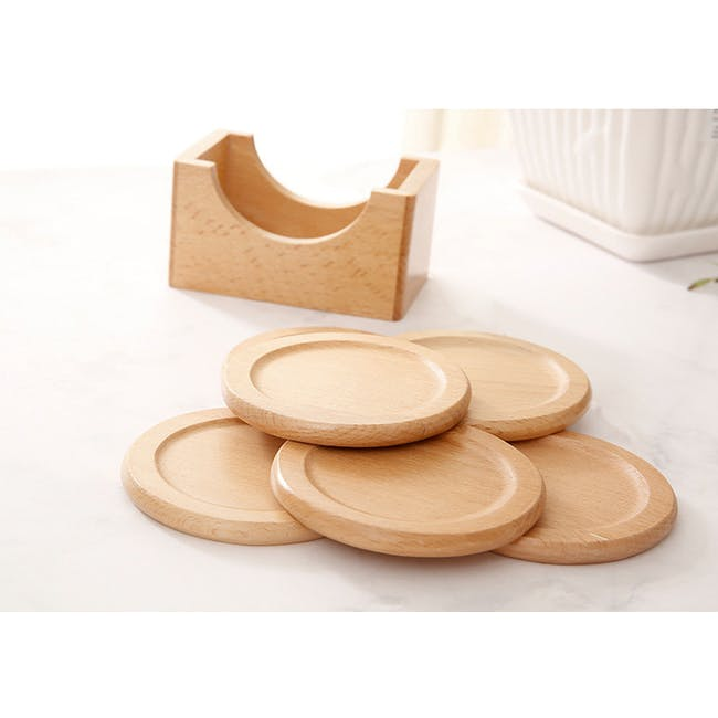 Dona Wooden Coaster (Set of 6) - 1
