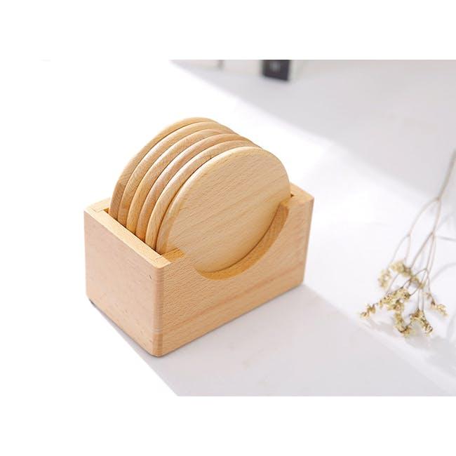 Dona Wooden Coaster (Set of 6) - 2