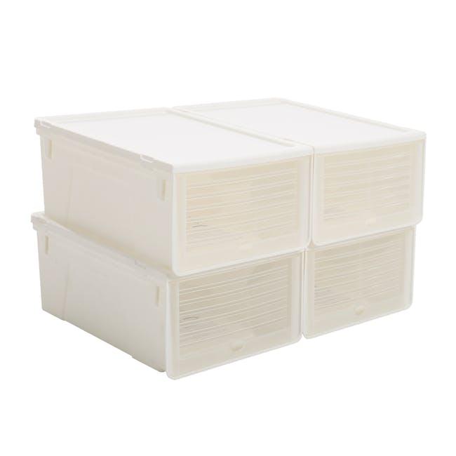 Men's Sliding Lid Shoe Box (Pack of 4) - 0