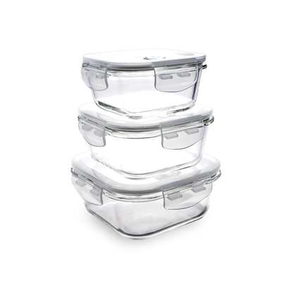 PICNIC Square Glass Food Storage with Lid - 520 ml - Image 2