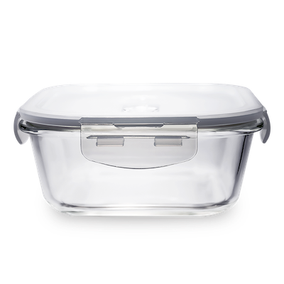 PICNIC Square Glass Food Storage with Lid - 520 ml - Image 1