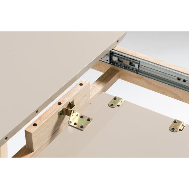 Meera Extendable Dining Table 1.6m - Natural, Taupe Grey - 14