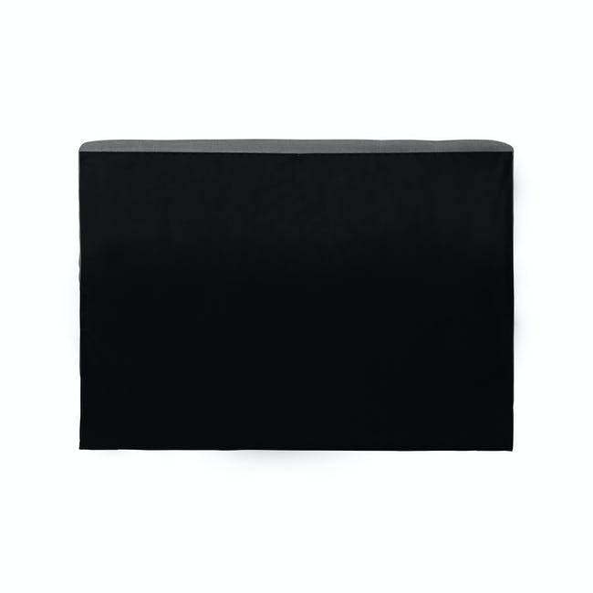 ESSENTIALS Single Headboard Storage Bed - Grey (Fabric) - 5