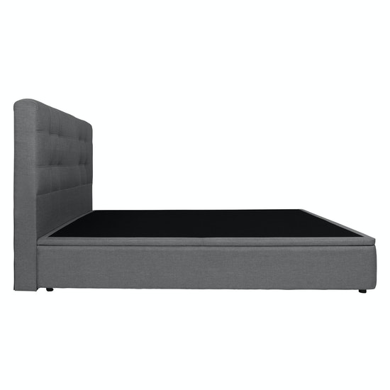 b125362f5b77 ESSENTIALS Single Headboard Storage Bed - Grey (Fabric), Beds by ...