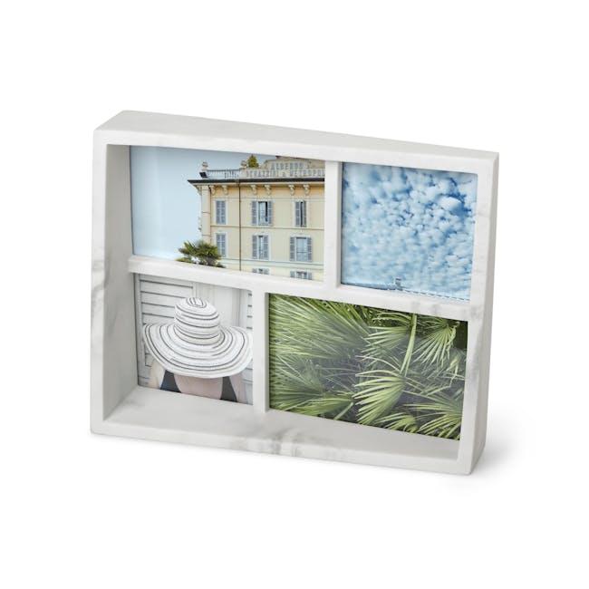 Edge Multi Photo Display - Small - Marble - 0