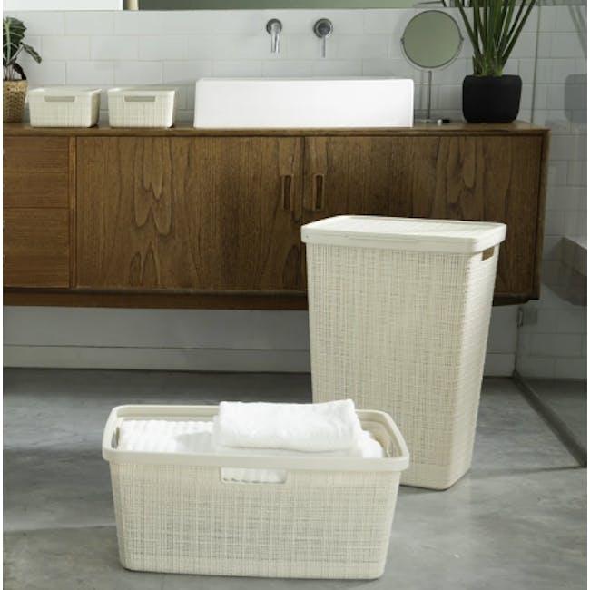 Jute Laundry Basket  46L - Off White - 2