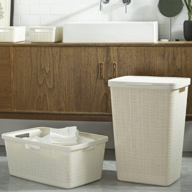 Jute Laundry Basket  46L - Off White - 1