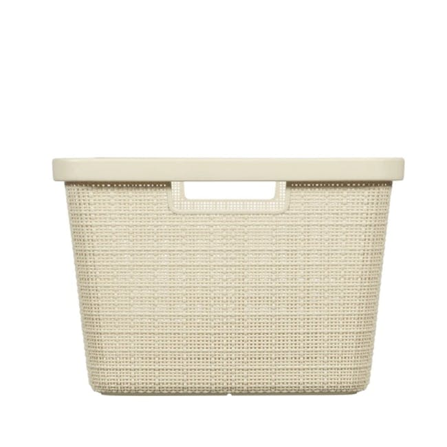 Jute Laundry Basket  46L - Off White - 3