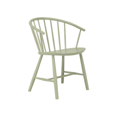 (As-is) Cane Dining Chair - Dust Green Lacquered - 1 - Image 1