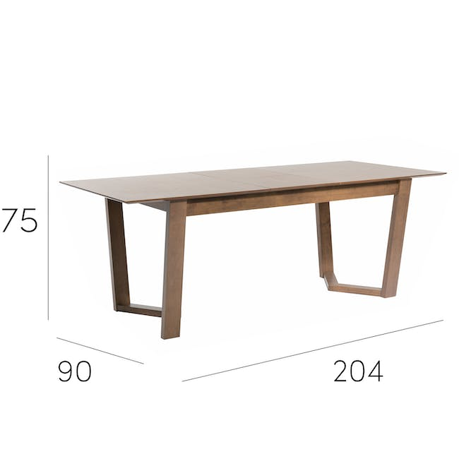 Meera Extendable Dining Table 1.6m - Cocoa - 21