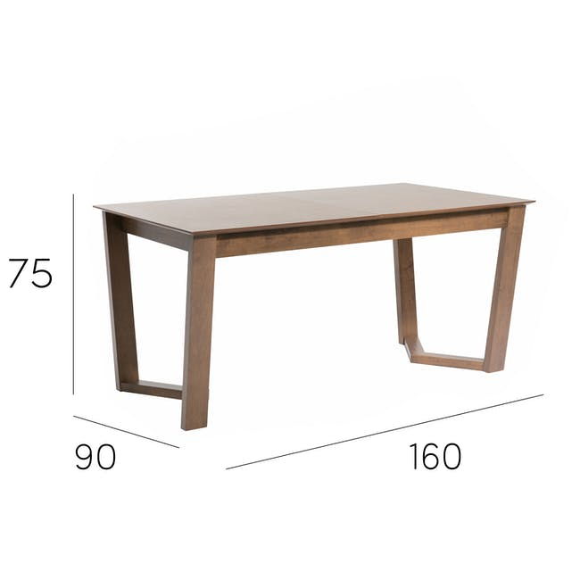 Meera Extendable Dining Table 1.6m - Cocoa - 20