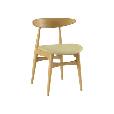 Tricia Dining Chair - Oak, Cream - Image 1