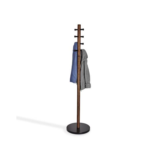Umbra - Pillar Coat Rack - Black, Walnut
