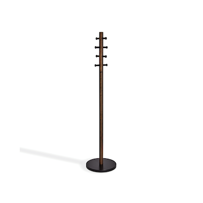 Pillar Coat Rack - Black, Walnut - Image 1
