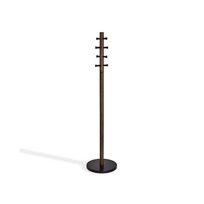 Pillar Coat Rack - Black, Walnut - Image 1
