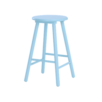 Orianna Counter Stool - Light Blue - Image 2