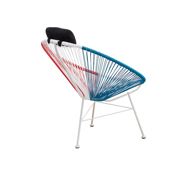 Acapulco Lounge Chair - Blue, White, Red Mix - 5