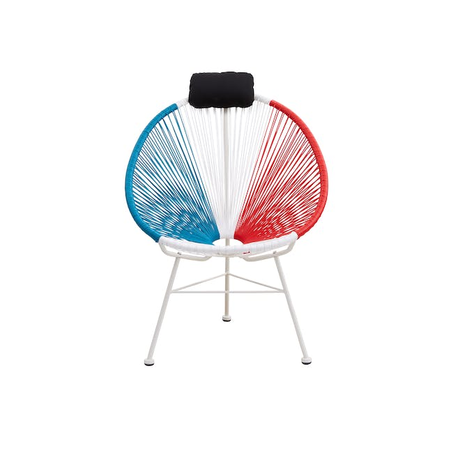 Acapulco Lounge Chair - Blue, White, Red Mix - 0