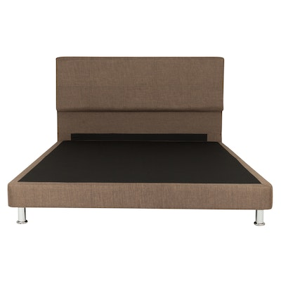 Beatrice Queen Headboard Bed - Brown (Fabric) - Image 1