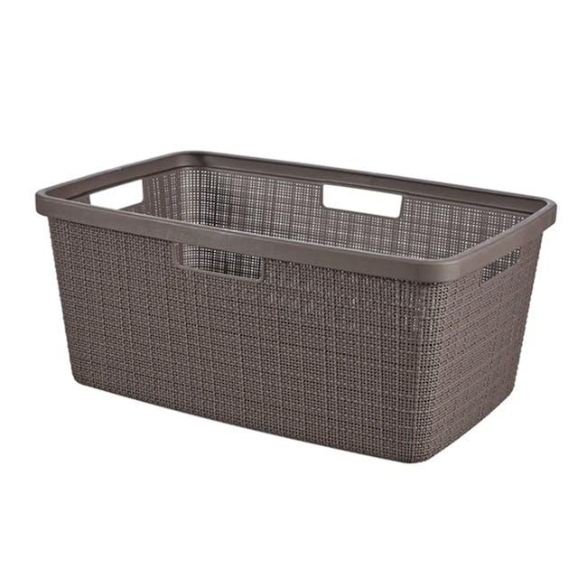 Jute Laundry Basket 46L - Peppercorn - 0