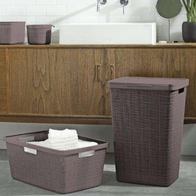 Jute Laundry Basket 46L - Peppercorn - 2