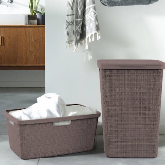 Jute Laundry Basket 46L - Peppercorn - 1