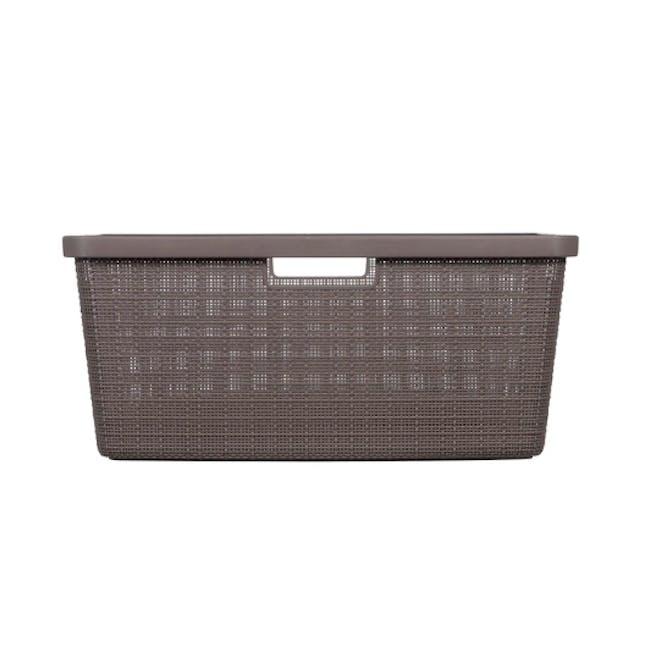 Jute Laundry Basket 46L - Peppercorn - 3