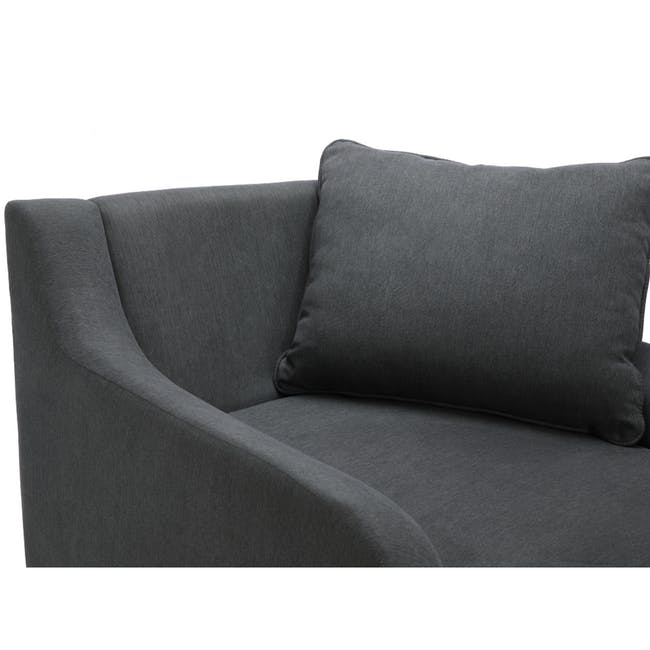 Delilah Chaise Lounge Sofa - Dark Grey - 4