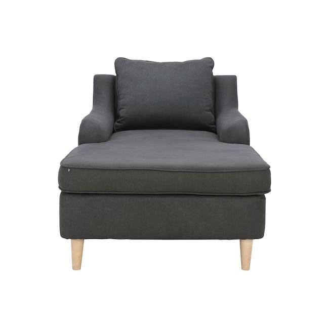 Delilah Chaise Lounge Sofa - Dark Grey - 3