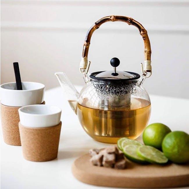 ASSAM Tea Press 1L - with Bamboo Handle - 1