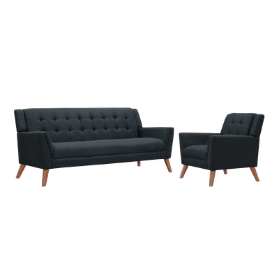 Stanley 3 Seater Sofa with Stanley Armchair - Image 1