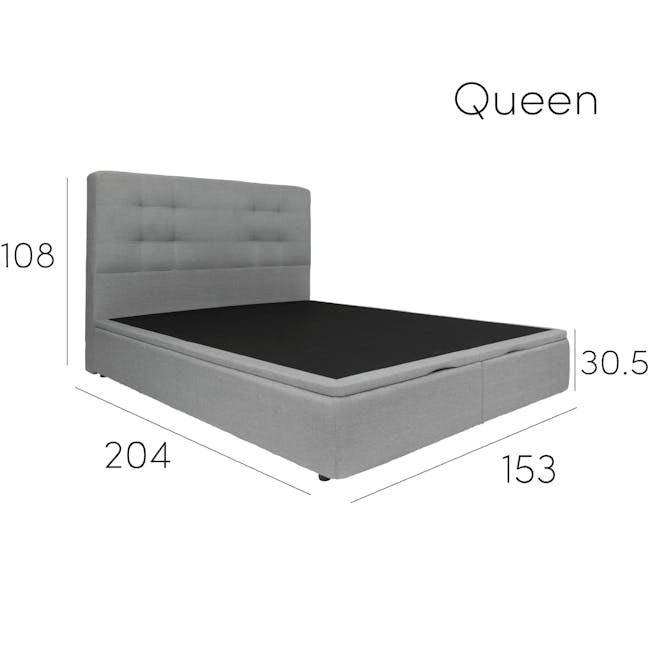 ESSENTIALS Queen Headboard Storage Bed - Denim (Fabric) - 8