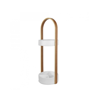 (As-is) Hub Umbrella Stand - White, Natural - 1 - Image 2