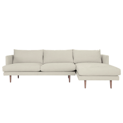 Duster L Shape Sofa - Almond - Image 1