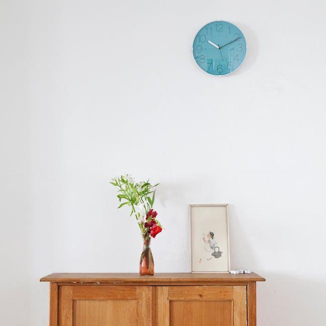 Cara Wall Clock - White, Orange - 2