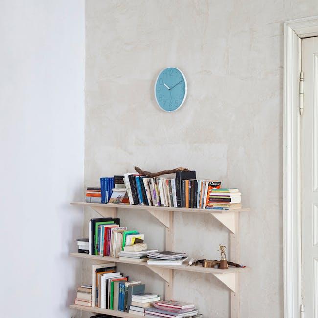 Cara Wall Clock - White, Orange - 3