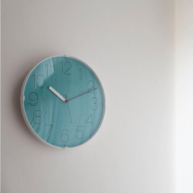 Cara Wall Clock - White, Orange - 1