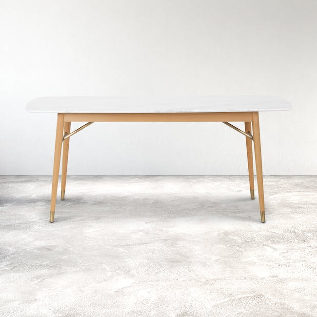 (As-is) Hagen Marble Dining Table 1.8m - 4 - 19