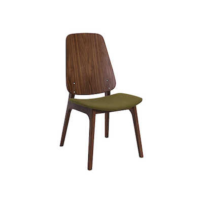 Maddie Dining Chair - Walnut, Olive